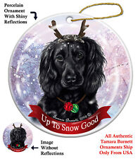 Holiday Pet Gifts Boykin Spaniel Black Reindeer Dog Porcelain Christmas Ornament