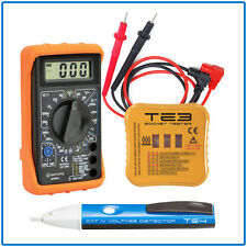 VOLTAGE Detector PEN Digital Multimeter Socket TESTER Set Electrical Testing Kit