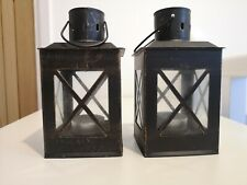 Two Small Lanterns 8cm Wide, 15 Cm Tall