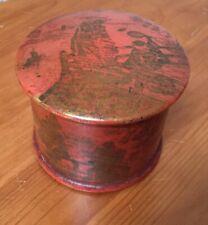 Vintage Oriental Papermache Trinket Box