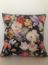 Country Vintage Rose Floral  Double Side Suede Velvet Look Soft Cushion Cover18""