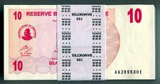 Zimbabwe 10 Dollars x 100pcs 2006 P39 full bundle consecutive UNC currency bills