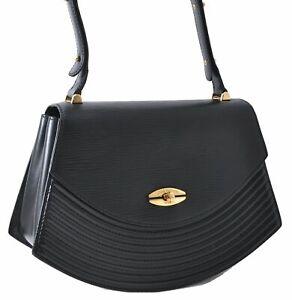Authentic Louis Vuitton Epi Tilsit Shoulder Hand Bag Black M52482 LV D4115