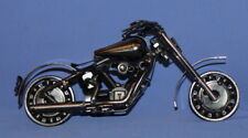 Vintage Hand Made Metal Art Motorcycle Statuette