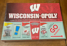 NEW Wisconsinopoly University Of Wisconsin Badgers College Monopoly Board Game