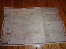 Vintage Standard Oil Map of Montana Helena Billings