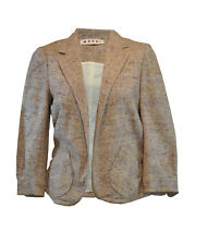** MARNI ** Quirky Belted Jacket ** 42 ** Cotton & Silk ** Designer **