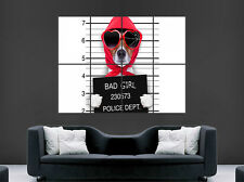 JACK RUSSELL DOG POSTER FUNNY MUGSHOT HUMOUR ART WALL GIANT POSTER