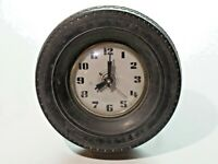 Vintage General Tire Steelex Radial Rubber Tire Advertising Clock with Stand