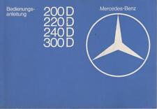 MERCEDES CLASSE E w123 Diesel Manuale di istruzioni 1977 1978 manuale BA