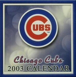 2003 Chicago Cubs Desk Calendar - Calendar is sealed and MINT!!!