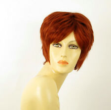 perruque femme 100% cheveux naturel courte cuivré intense ref MALORIE 130