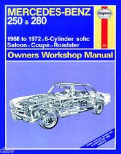 Mercedes 250 280 W113 W114 Workshop Service and Repair Manual 1968-1972 *NEW