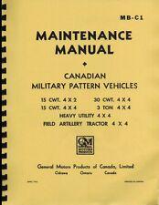 MB-C1 ~ GMC CMP ~ Truck Maintnance Manual ~ WWII ~ Reprnt