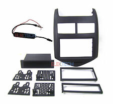 Chevrolet Sonic Radio Replacement Dash Install Kit & Antenna Adapter Jet Black