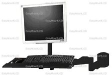 EZM LCD Monitor/Keyboard Wall Mount Black (002-0026)