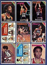 1975-76 Topps Basketball Starter Set 9 Different Cards (30-290) G-VG