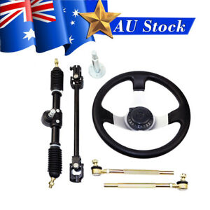 GO CART 110-140cc Steering Wheel Tie Rod Rack Adjustable Shaft Kit