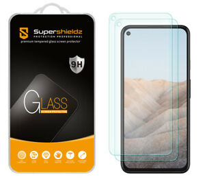 [2-Pack] Supershieldz Tempered Glass Screen Protector for Google Pixel 5a 5G