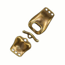 Brass Buckle Design 3 Strand Connector Toggle Clasp 60mm (D105/2)