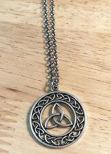 Outlander Scottish Irish Celtic Knot Eternity Cross Trinity Necklace Chain