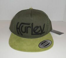 Hurley Mens The Classics Snapback Hat Cap Olive Green Original Cord Yupoong 09420c6599c3