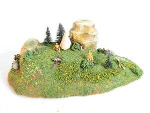 Preiser H0 1009 Holz Diorama Landschaft Campingplatz 50er Jahre