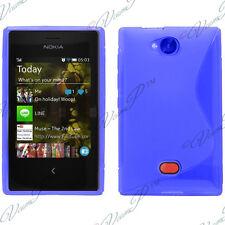 Accessoire Housse Etui Coque TPU Silicone BLEU Nokia Asha 503