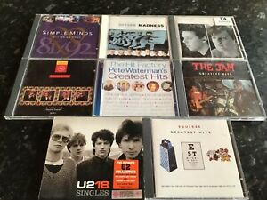 Job lot bundle 80s cds the jam tears for fears madness simple minds u2