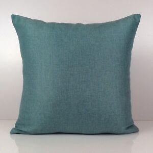 Light Teal Decorative Decorative - Linen Blend Pillow Home Decor, Sofa Decor