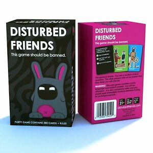 New DISTURBED FRIENDS Card Game Funny Party Table Games 380PCS Best Xmas Gift