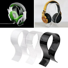 Universal Acrylic Earphone Headset Hanger Holder Headphone Desk Stand Display