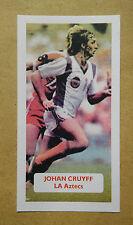 Johan Cruyff-Países Bajos-Ajax-la aztecas Puntuación UK Trade card NASL