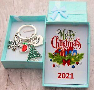 XMAS GIFT Keyring for Mum Daughter Daddy Friend Nanny Nana -Christmas Gift