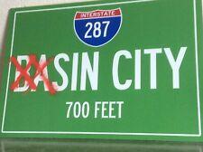 Sin City Basin 7x10 Metal Road Sign Highway 287 Prop Replica Bam! Box