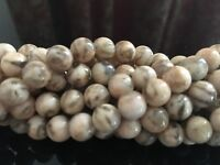 "16"" Strand Semi Precious Feldspath Tiger Jasper 8mm Round Beads(60PCS) UK EBAYER"