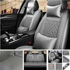 Updated Pu Leather Car Seat Covers 5 Sits Cushion Suv Protector Auto Interior Us