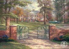 Graceland, 50th Anniversary - Elvis, Memphis TN - Thomas Kinkade Dealer Postcard