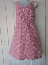 I Heart Ronson Pink and White Sleeveless Dress Size M