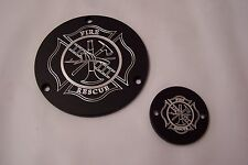 Custom EVO Derby-points cover set Fits Harley Davidson Fire Fighter