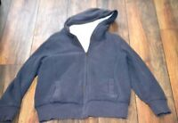 Old Navy Fuax Fur Lined Full Zip Jacket Gray Hoodie Size Large