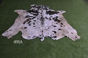 """New Cowhide Rugs Hair On COW HIDE Rugs Area Cow Skin Leather Rugs (61"""" x 51"""")"""