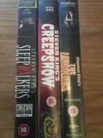 3x VHS VIDEO BUNDLE -STEPHEN KINGS CREEPSHOW, THE LANGOLIERS, SLEEPWALKERS