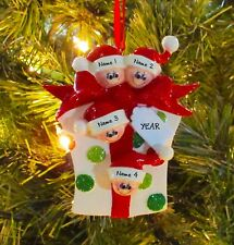 Glitter Gift Family Of 4 Personalized Christmas Tree Ornaments