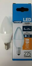 Status 4w =25w LED Candle Light Bulbs E14 Small Screw SES Daylight White 6500K