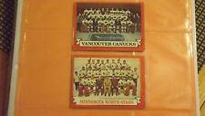 1973-74 O-PEE-CHEE  TW0 CARD LOT  # 99/ 107  VANCOUVER & MINNESOTA TEAM CARD