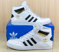 Adidas Hard Court Hi White Gold Basketball Athletic Shoes FV5329 Men's size 10.5