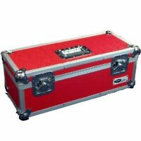 "1 X NEO Aluminum Red Vinyl 7"" Storage for 300 Records Singles DJ Carry Case"