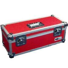 """1 x Neo Aluminio registros 7 """"Dj Rojo de almacenamiento para 300 Vinilo Lp Vuelo llevar Funda"""