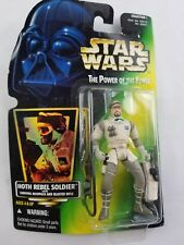 Star Wars Hoth Rebel Soldier Freeze Frame MOC POTF2 Power Force Army ERROR .02